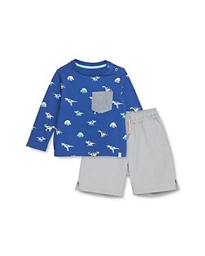 Sovereign Code Boys' Wrap Dino Print Tee & Kurtis Oxford Shorts Set - Baby