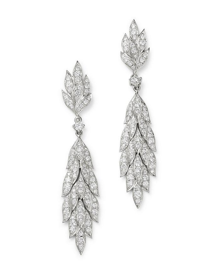 Bloomingdale's - Diamond Statement Drop Earrings in 14K White Gold, 1.32 ct. t.w. - 100% Exclusive