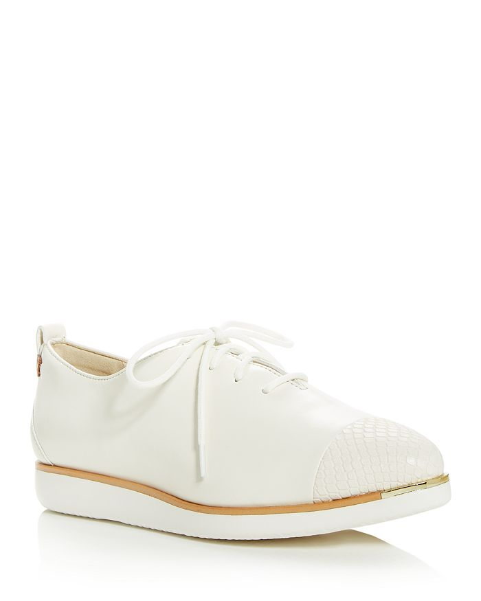 Cole Haan WOMEN'S GRAND AMBITION EMBOSSED POINTED-TOE FLATS