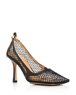 Bottega Veneta - Mesh Square-Toe Pump