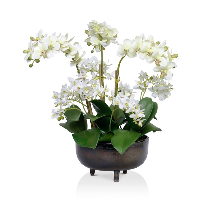 Diane James Home - Mixed Faux Floral Phalaenopsis Orchids