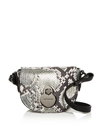 Longchamp - Cavalcade Extra Small Snake-Embossed Leather Crossbody