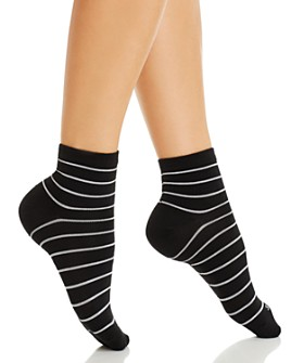 HUE - Super Soft Striped Ankle Socks
