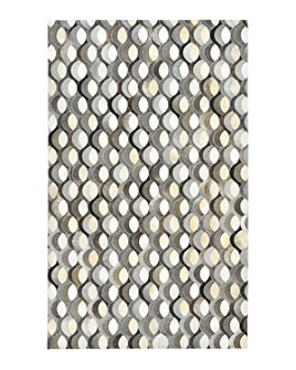Timeless Rug Designs - Levi Cowhide S3083 Area Rug, 9' x 12' - 100% Exclusive