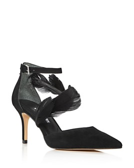 Charles David - Women's Attract Feather-Embellished d'Orsay Pumps
