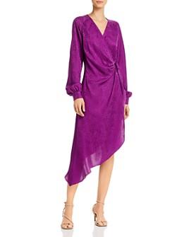 Art Dealer - Cheetah-Print Midi Wrap Dress
