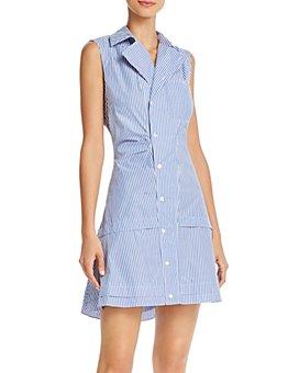 Derek Lam 10 Crosby - Satina Cotton Striped Shirt Dress