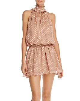 Amanda Uprichard - Kimmie Sleeveless Embroidered-Dot Mini Dress