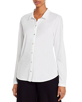Eileen Fisher Petites - Organic Cotton Button-Down Top
