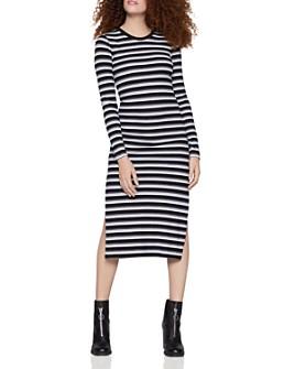 BCBGENERATION - Striped Rib-Knit Midi Dress