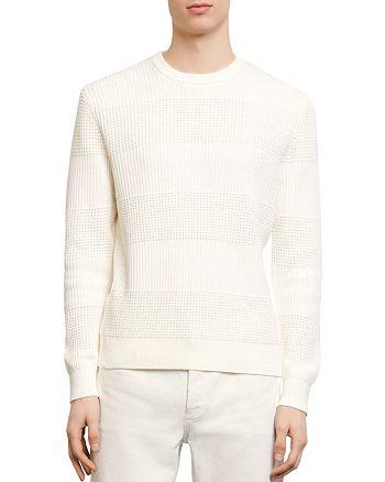 Sandro - Oleron Multi-Stitch Crewneck Sweater