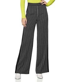 BCBGMAXAZRIA - Striped Wide-Leg Pants