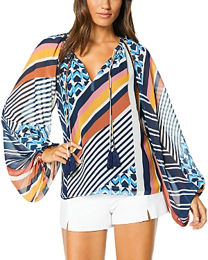 Ramy Brook Kayden Geo Printed Top-Women
