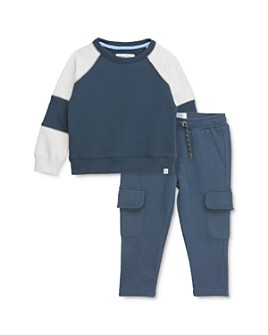 Sovereign Code - Boys' Fury Color-block Sweatshirt & Trench Cargo Jogger Pants Set - Baby