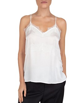 The Kooples - Waved Lace-Inset Camisole Top