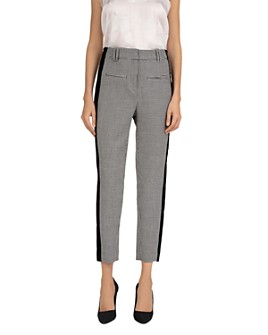 The Kooples - Velvet Stripe Houndstooth Pants