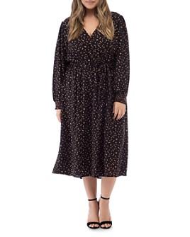 B Collection by Bobeau Curvy - Printed Faux-Wrap Dress