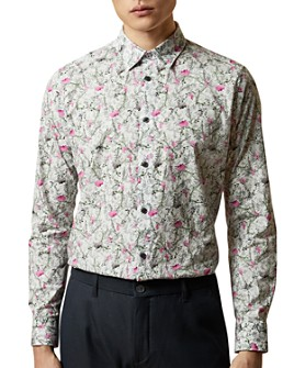 Ted Baker - TOOBIG Floral Print Slim Fit Button-Down Shirt