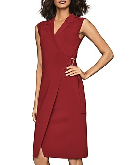 REISS - Gabrielle Belted Wrap Dress