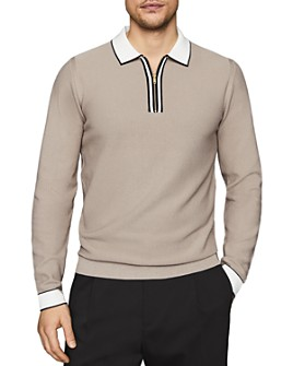 REISS - Mauritizio Waffle-Textured Polo Shirt