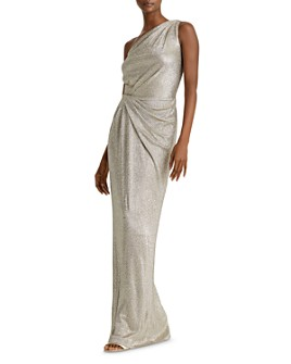 Ralph Lauren - Metallic One-Shoulder Gown