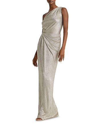 Ralph Lauren - Metallic One-Shoulder Gown