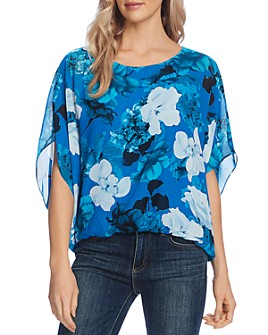 VINCE CAMUTO - Watercolor Melody Floral Blouse - 100% Exclusive