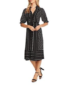 CeCe - Ruffle-Sleeve Floral Print Dress