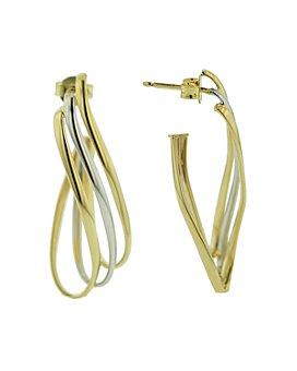 Bloomingdale's - J-Hoop Earrings in 14K Yellow & White Gold - 100% Exclusive