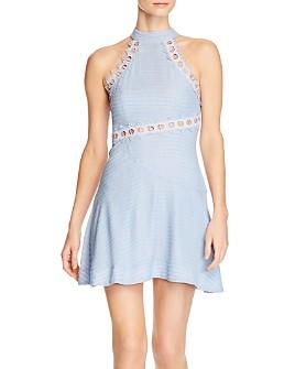 Keepsake - New Look Eyelet-Trim Mini Dress