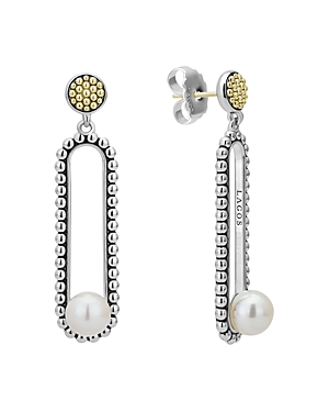 Lagos 18K Yellow Gold & Sterling Silver Luna Cultured Freshwater Pearl Drop Earrings-Jewelry & Accessories