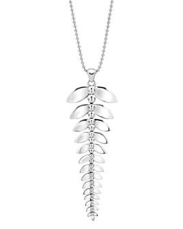 "LAGOS - Sterling Silver Signature Caviar Leaf Pendant Necklace, 34"""