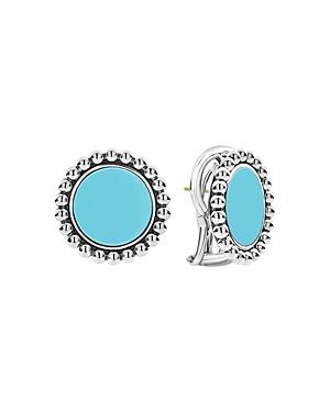 Lagos Sterling Silver Maya Ceramic Stud Earrings