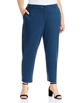 Eileen Fisher Plus - Tapered-Leg Knit Pants
