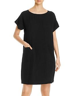 Eileen Fisher - Organic Cotton Short-Sleeve Shift Dress