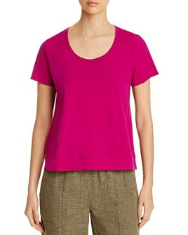 Eileen Fisher - U-Neck Tee - 100% Exclusive