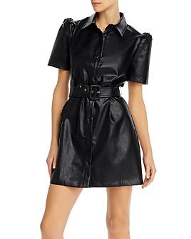 AQUA - Faux-Leather Mini Dress - 100% Exclusive