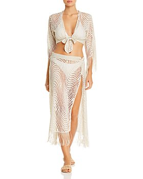 Ramy Brook - Vista Cropped Top Swim Cover-Up & Deetra Skirt Swim Cover-Up