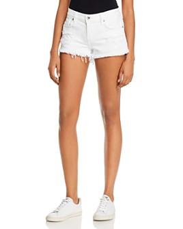 Pistola - Gigi Low-Rise Cutoff Denim Shorts in White