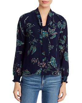 Vero Moda - Floral-Print Tie-Neck Blouse