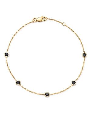 Bloomingdale's 14K Yellow Gold & Black Diamond Station Bracelet - 100% Exclusive
