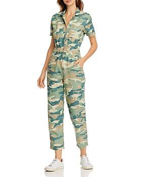 MOTHER - Camo Print Ankle Jumpsuit - 100% Exclusive