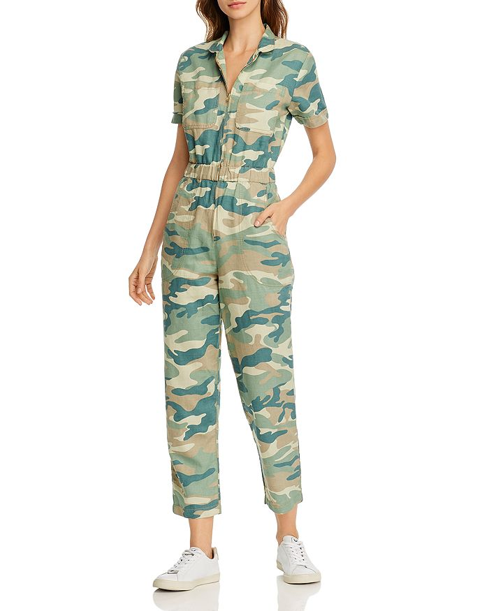 MOTHER - Camo Print Ankle Jumpsuit - 100% Exclusive