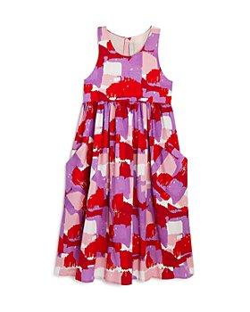 Stella McCartney - Girls' Brush Stroke Midi Dress - Little Kid, Big Kid
