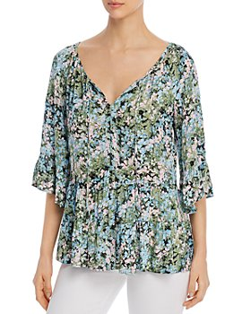 Cupio - Floral-Print Tiered Top