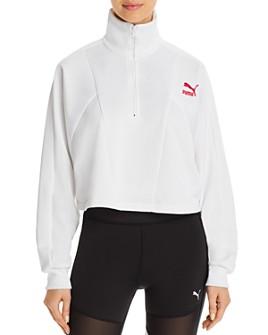 PUMA - TFS Half-Zip Cropped Sweatshirt