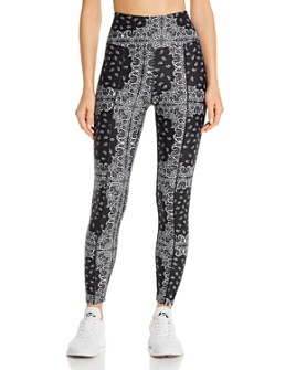 Year of Ours - High-Rise Bandana-Print Leggings