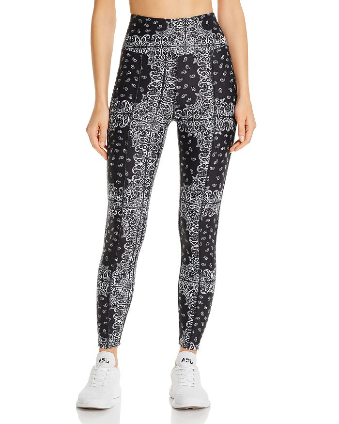 Year Of Ours YEAR OF OURS HIGH-RISE BANDANA-PRINT LEGGINGS