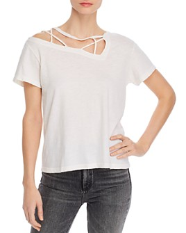 LNA - Charlie Strappy Cutout Tee