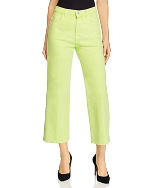 J Brand Joan Cropped Wide-Leg Jeans in Forsythia-Women
